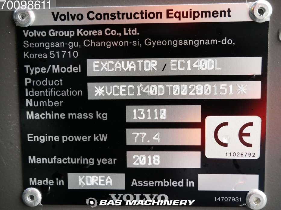 Volvo EC140DL New unused 2018 machine - 2018 - image 19