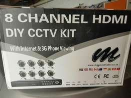 8 Channel HDMI DIY CCTV Surveilance Kit with 3G Viewing