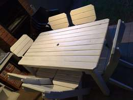 6 Seater Wooden Table and Chairs
