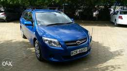 Toyota fielder, 2010model, dark interior, new tyres, DVD n carrier