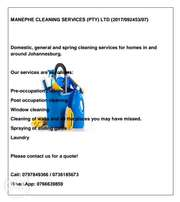 Manephe Cleaning Services (PTY) LTD (2017/092453/07)