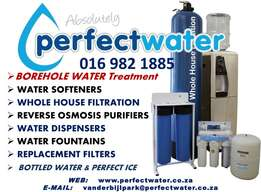 Borehole Water Treatment, Filters, Softners, Reverse osmosis Systems