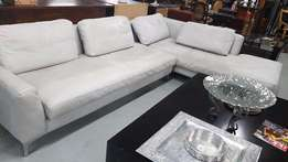 L-Shape leather couch