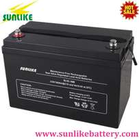 Sunlike Deep Cycle Battery, vrla battery, lead acid battery 12v100ah