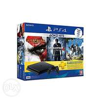 Sony PS4 Slim 500GB - with God of War,Uncharted 4 & Horizon games.