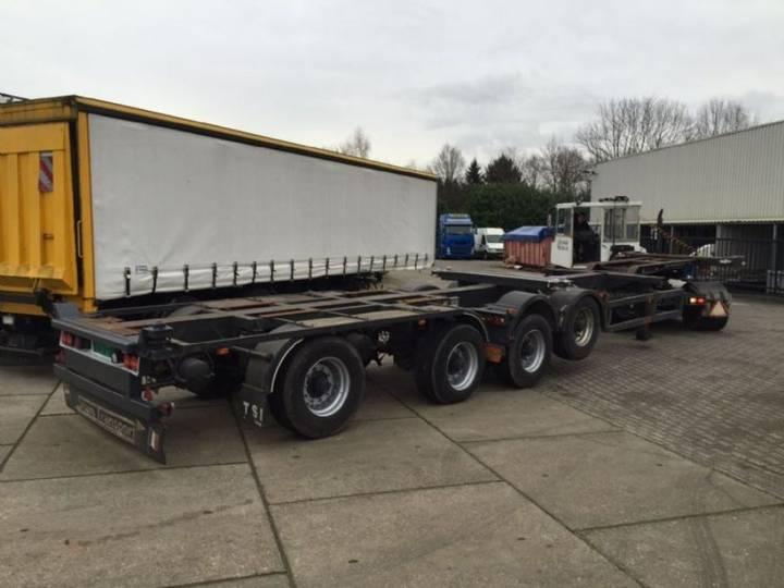 Kromhout splitt trailer 2x 20 ft 4 axlle , 2 trailers in 1 ,total - 1996
