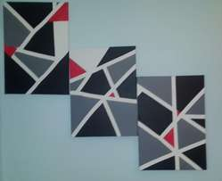 Set of 3 Acrylic Abstract paintings