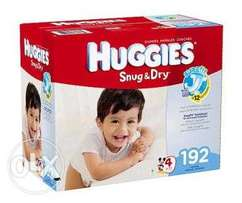 Huggies Snug and Dry Diapers Size 4 192 Count