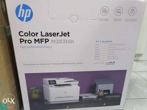 Hp Color laserjet M283-fdn printer, scan, copy, print duplex with netw