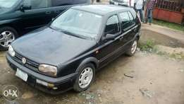 Black golf3 saloon car for sale at a good price