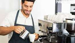 A bar tender wanted for immediate employment in a coffee shop