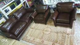 leather seats 5 seater genuine leather. Ex UK.