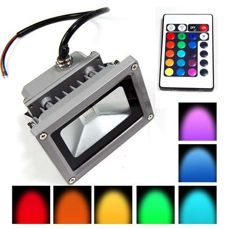 10w RGB LED Floodlight With Remote Sunridge Park - image 2