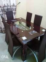 Brand New 6-Seater Dining Table (brown)