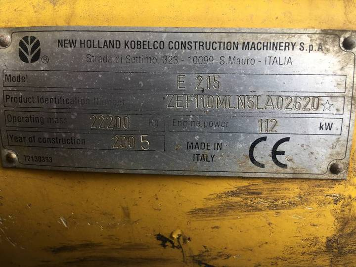 New Holland E 215 - 2005 - image 8