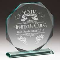 Acrylic Crystal Plaque Glass Engraving
