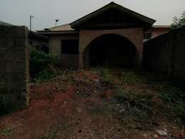 Uncompleted 2 nos of 3 bedroom flat fenced gate in a lovely area at Ip