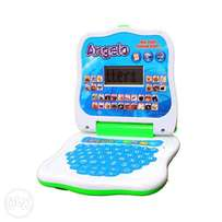 Portable Children Learning Computer Toy With LCD - Blue
