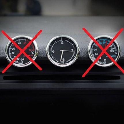 Nowy Okrągły Zegar Zegarek Kwarcowy Do Wnętrza Samochodu