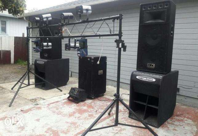 Wedding,birthday dj event equipments sound & lighting for hire