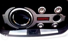 sub and speaker with 2amps car sound