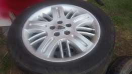 Rover 75 rims with tyres with spare wheel