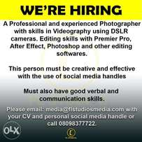 Cinematographer needed urgently