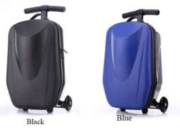 Brand New Micro Luggage Scooter Travel Bag (Blue and Black)