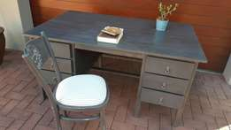 Large grey desk