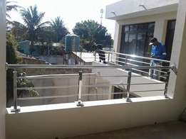 Stainlessteel drive way gates and hand rails