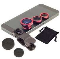 Universal 3in1 Clip On Camera Lens Kit Wide Angle Fish Eye Macro
