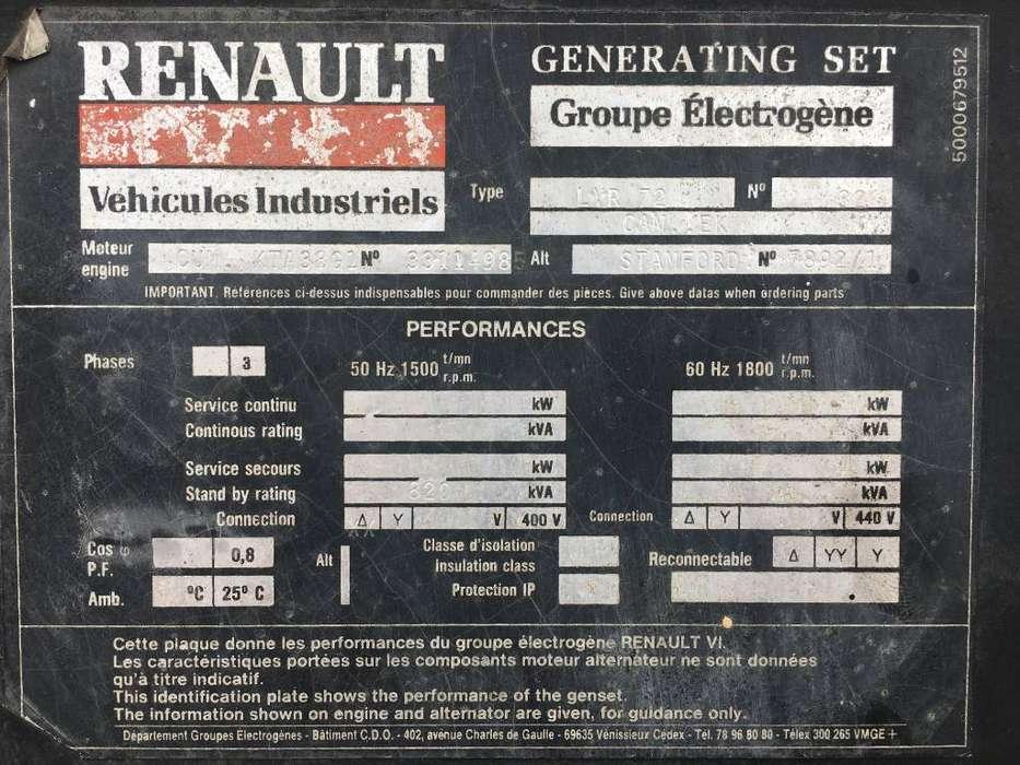 Cummins KTA38G1 - 780 kVA Generator - DPX-11547 - 1988 - image 5