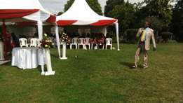 Hire tents, seats, wedding decor, outside catering