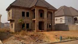Uncompleted five bedrooms fully detached duplex. For sale