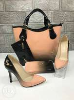 New quality sets of bag, shoes and purse