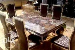 Executive 6-Seater Marble Dining Table
