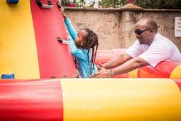 Bouncing castle for hire - Climbing wall