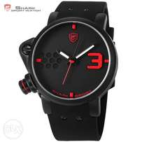 Salmon SHARK Sport Watch Black Red Brand Military Men Watches