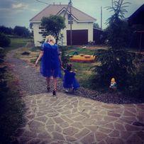 Плаття сукні family look мама дочка фотосесія весілля синій день наро 782bd304e6532