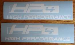 hp 4 decals vinyl stickers - Set off 2