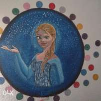 3D mural painting of frozen. A best gift for the kids.