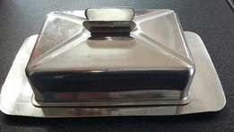 Stainless steel butter dish (p2958/2)