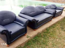 Dark Blue Leather Sofas