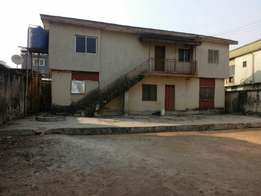 Nice 3Bedroom upstair and downstair setback on a plot at Egbeda