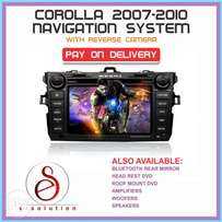 DVD for COROLLA 2008 with NAVIGATION and reverse camera