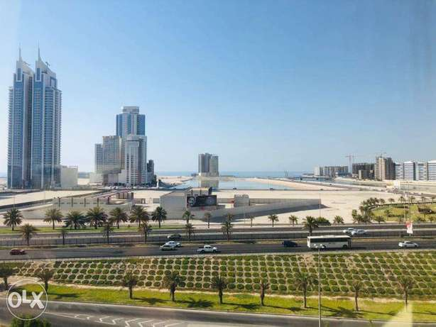 Two bedrooms flat with balcony at Abraj for 58k semi furnished