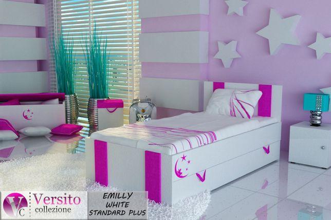 Bajeczne łóżko Dla Dzieckadziecięce Z Materacem 10 Cm I
