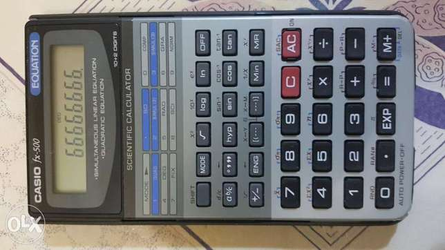 Casio FX 500 Equation scienctific calculator