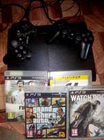 ps3 for sell with for awesome games Grant theft5 watchdogs etc