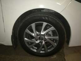 16 inch toyota corolla 2017 rims with brand new continental tyres
